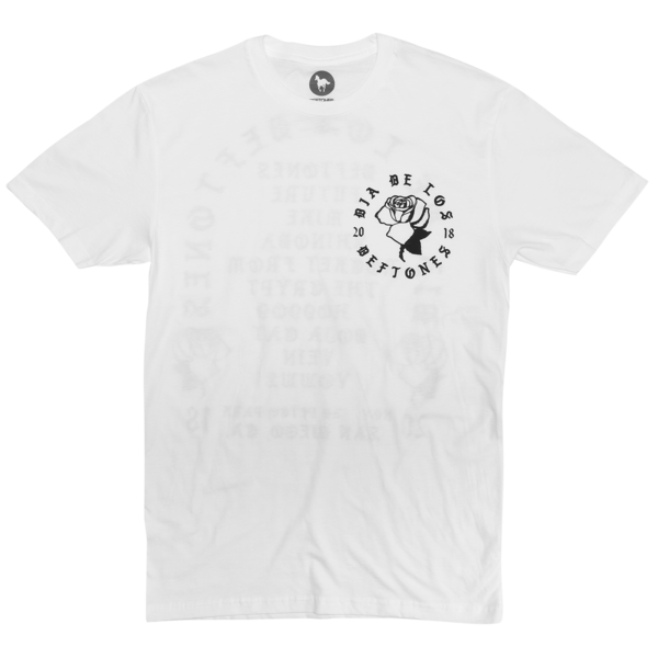 DDLD Rose on White T-Shirt