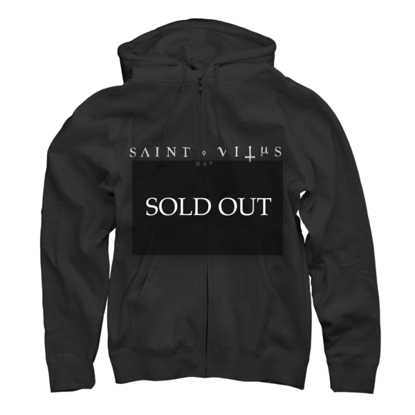 St. Vitus Straight Logo Black Zip Up