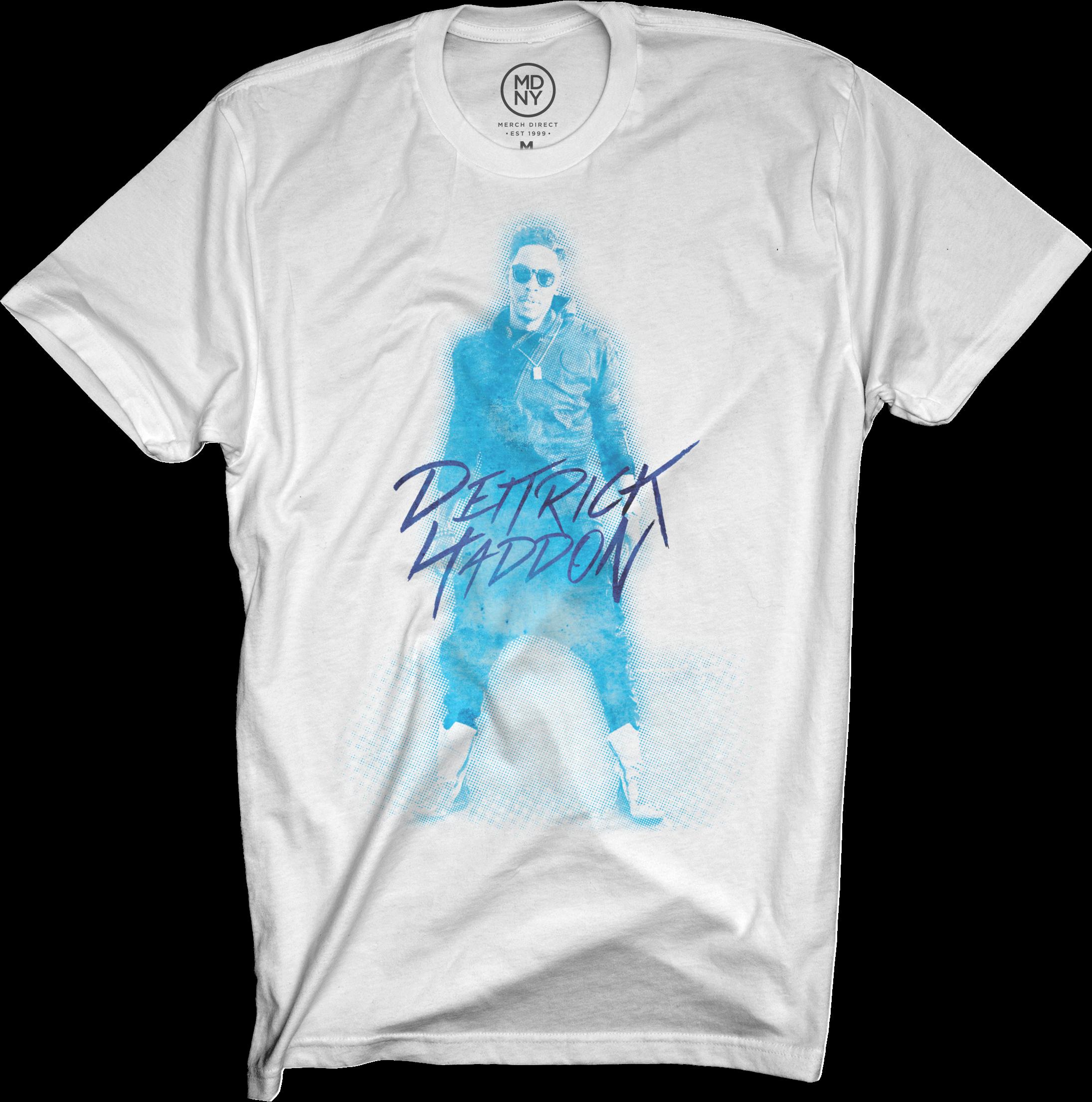 Dietrick Haddon - Blue Photo on White T-Shirt