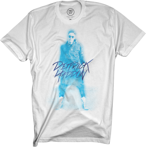 Dietrick Haddon - Blue Photo on White T-Shirt