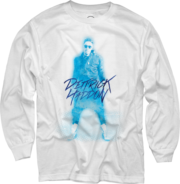Dietrick Haddon - Blue Photo on White Long Sleeve