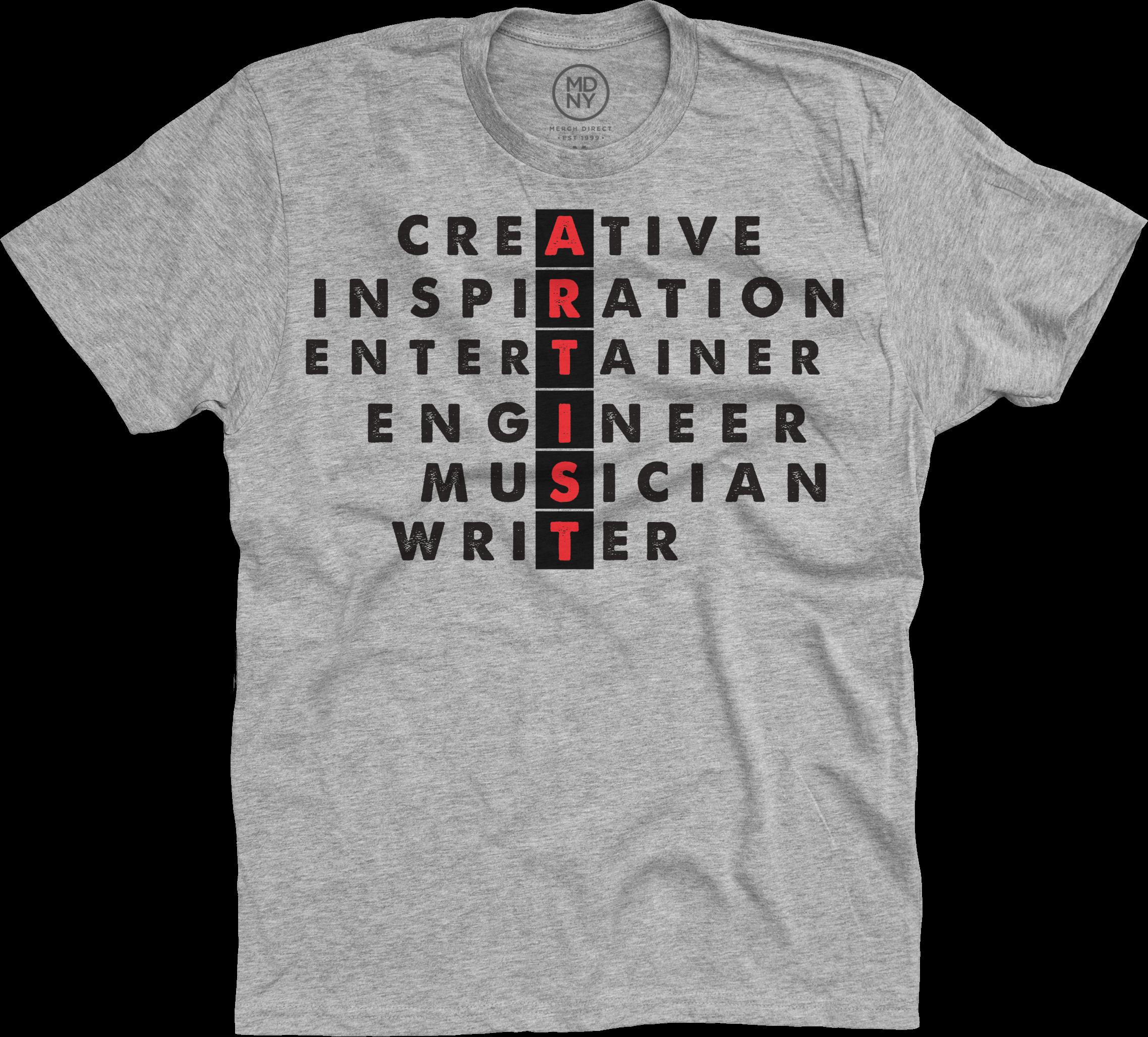 ARTIST on Heather Grey T-Shirt