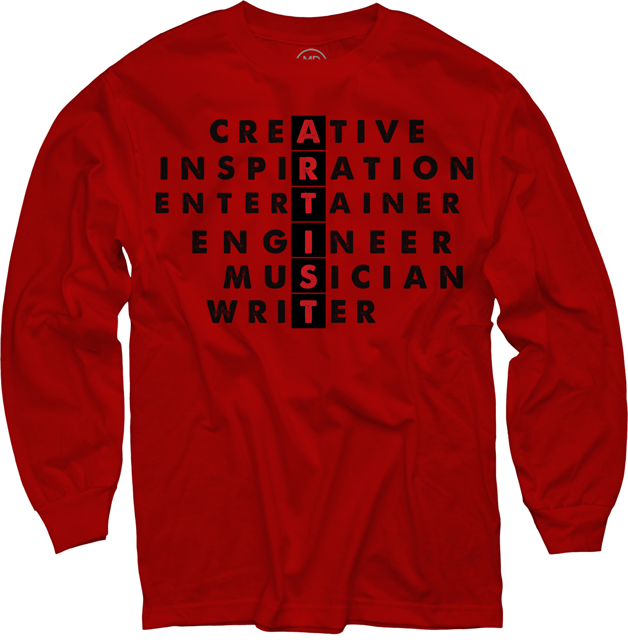 ARTIST on Red Long Sleeve