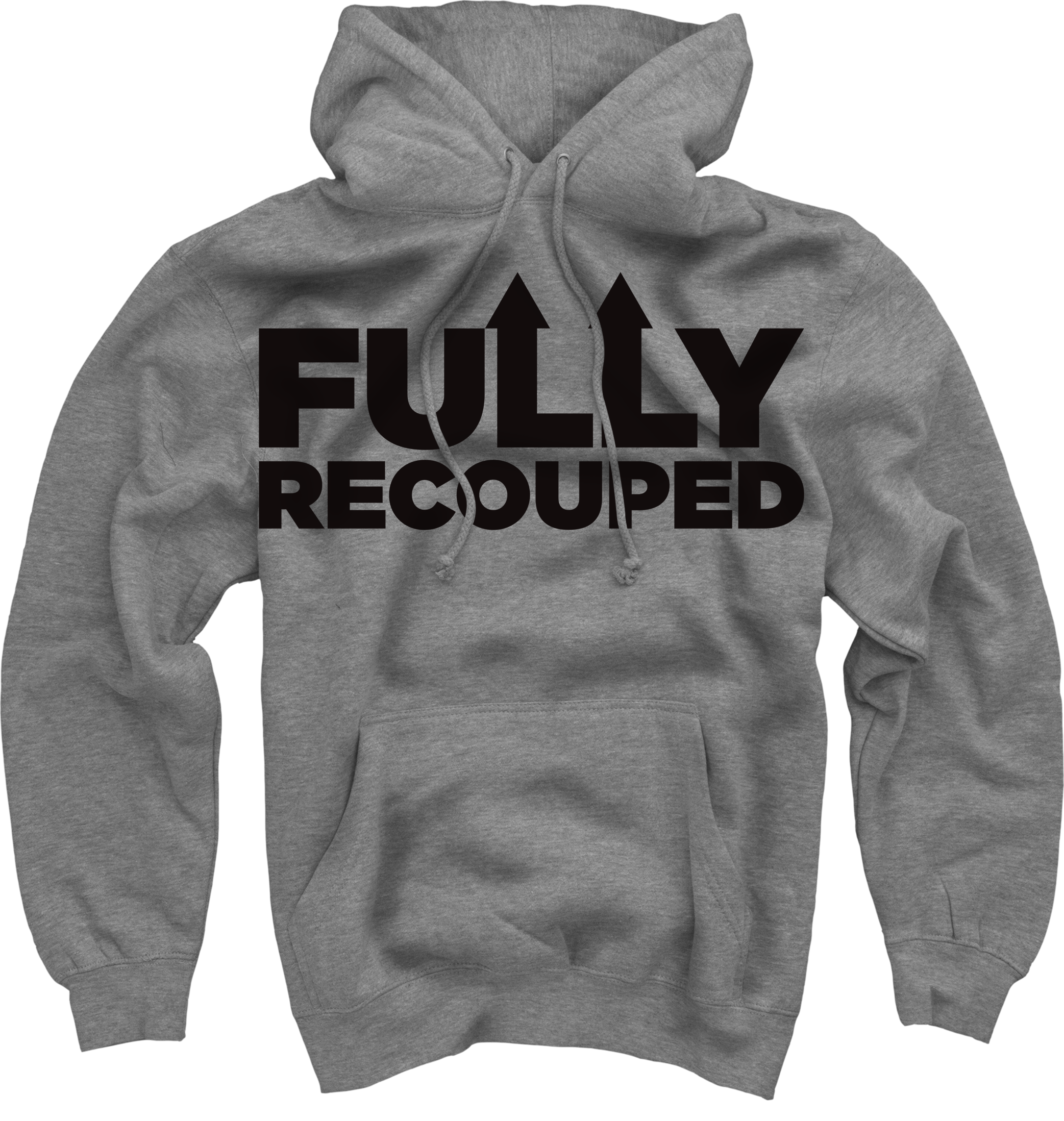 Fully Recouped on Heather Grey Pullover