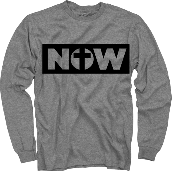 Now on Heather Grey Long Sleeve