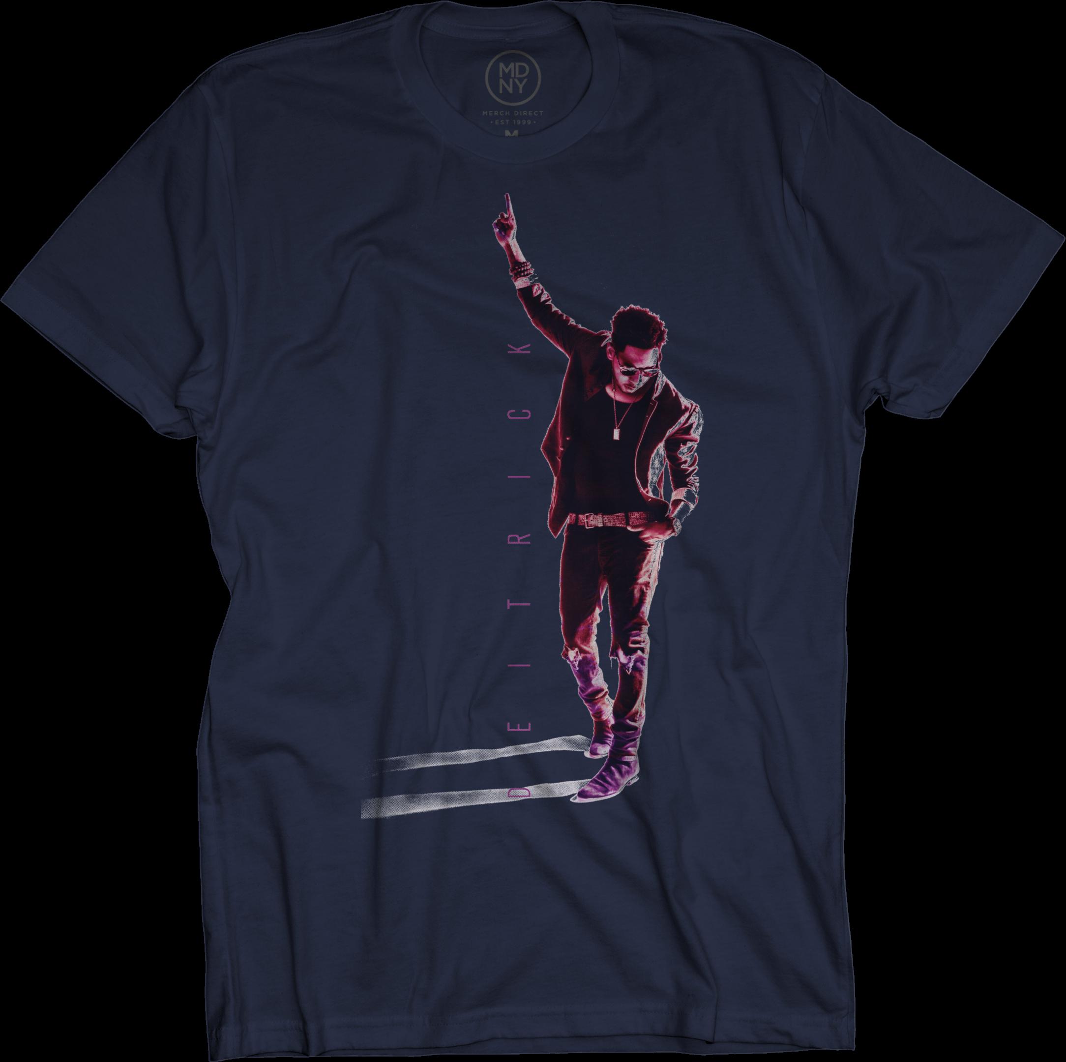 Deitrick Haddon - Pink Photo on Navy T-Shirt