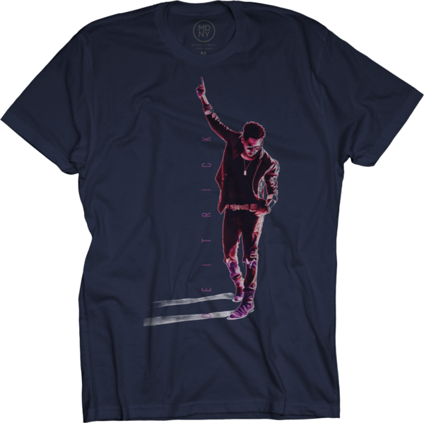 Deitrick Haddon - Pink Photo on Navy T-Shirt
