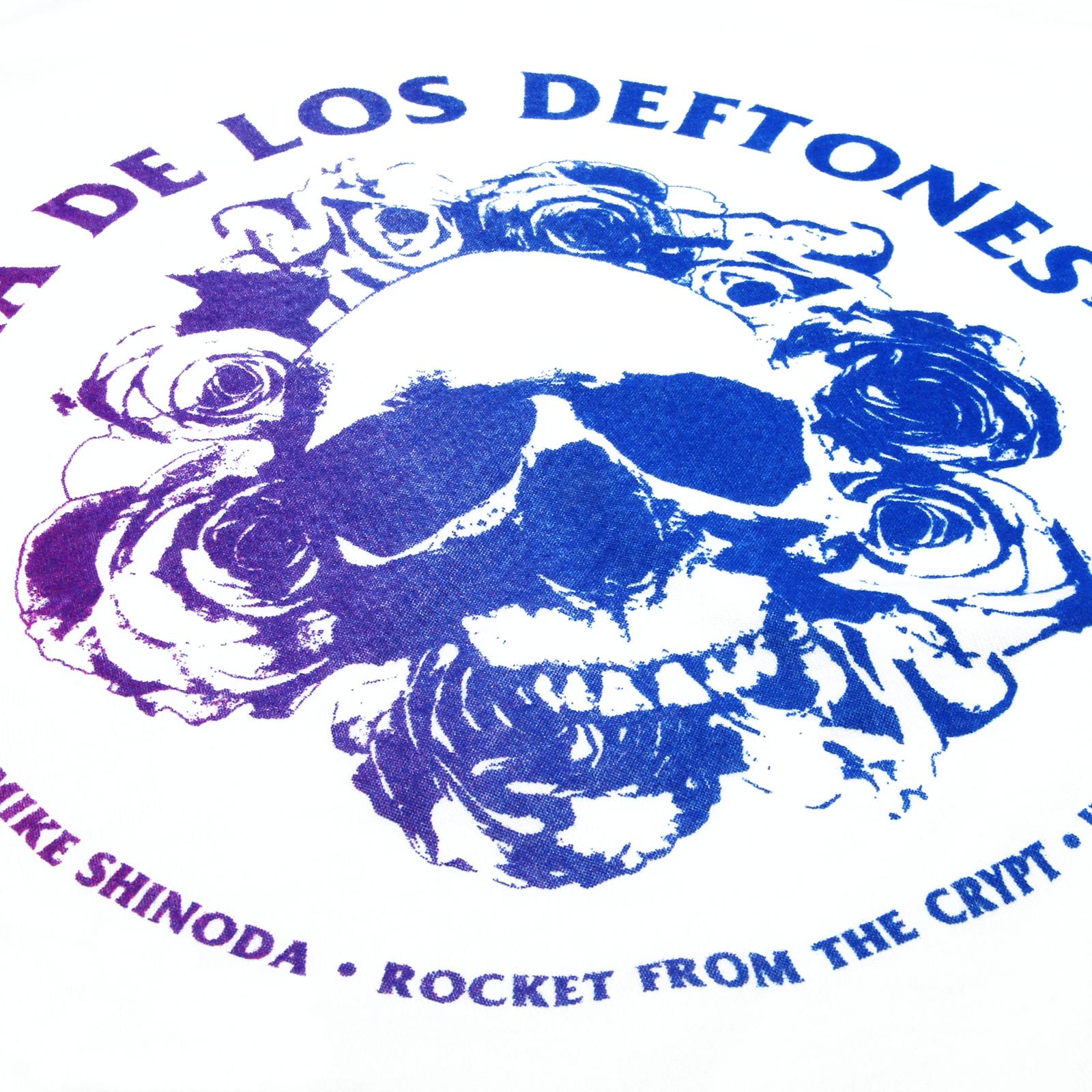 DDLD SkullRose White Racerback Tank