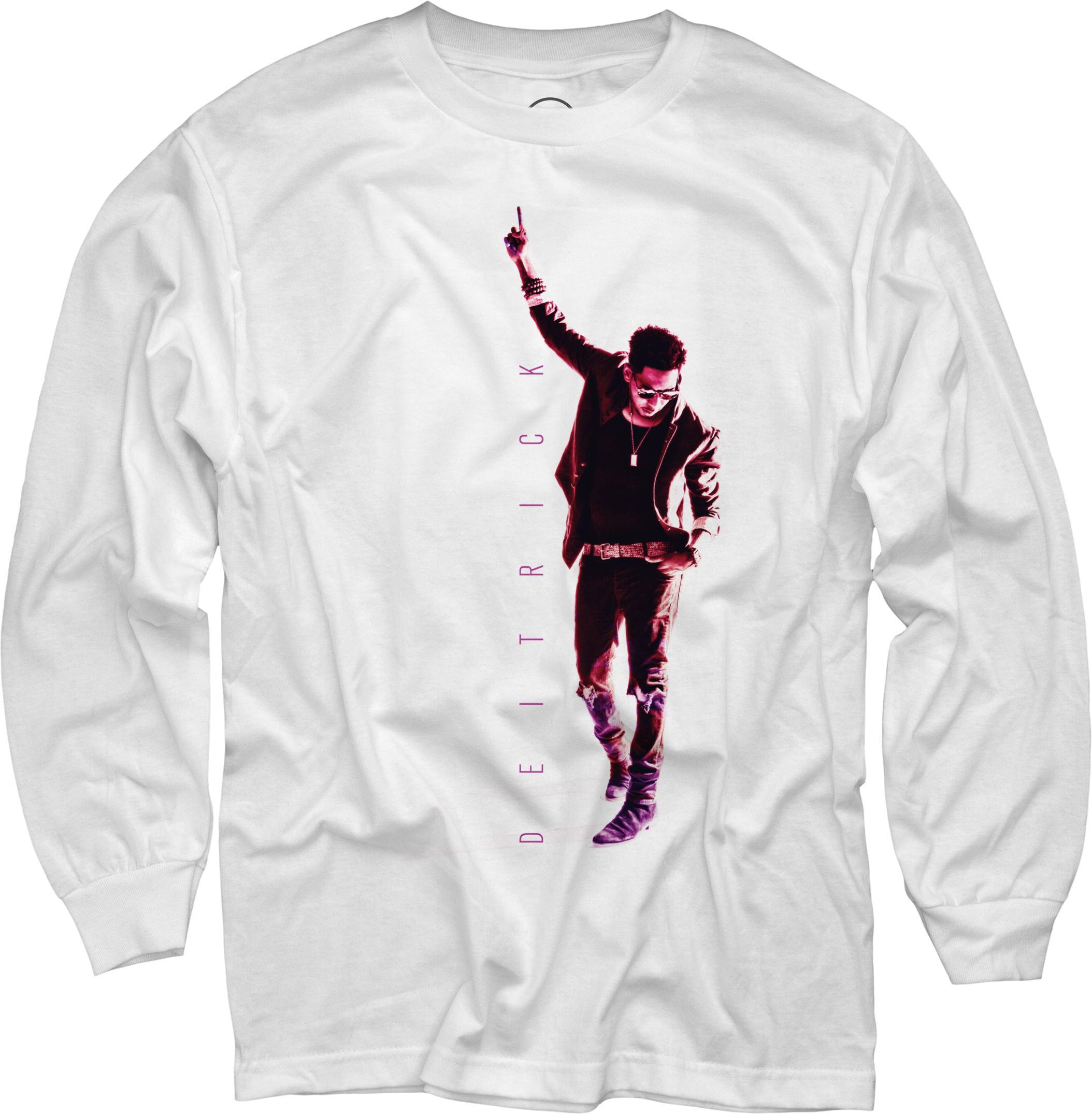 Deitrick Haddon - Pink Photo on White Long Sleeve