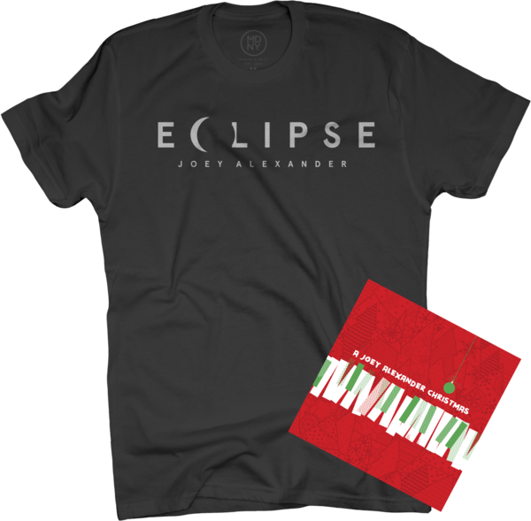 A Joey Alexander Christmas EP + Eclipse (men's) Black T-Shirt