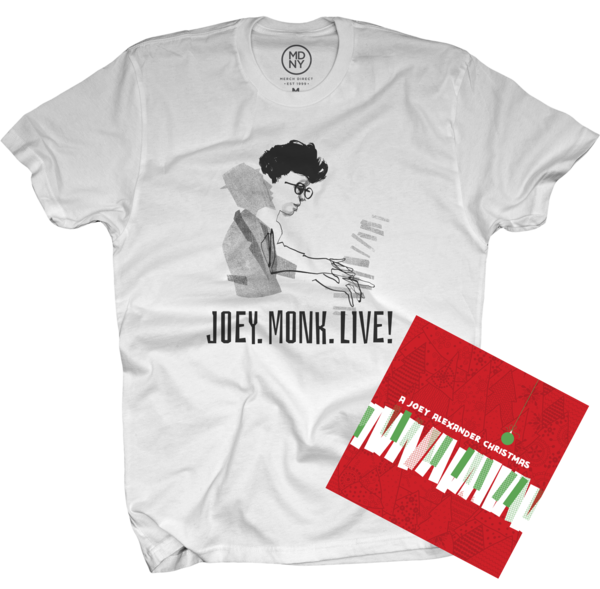 A Joey Alexander Christmas EP + JOEY.MONK.LIVE! T-Shirt (mens) White