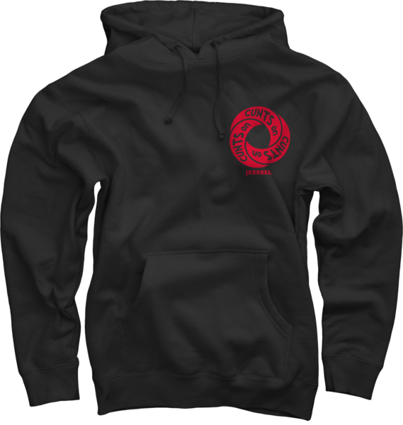 Cunt Infinity Red on Black Pullover Hoodie