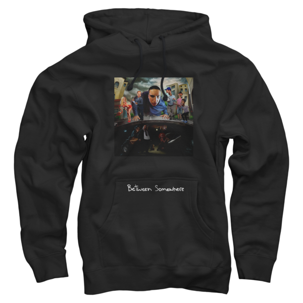 Between Somewhere Black Pullover