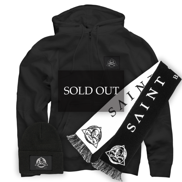 Scarf + Winter Cap + Patch Hoodie Bundle