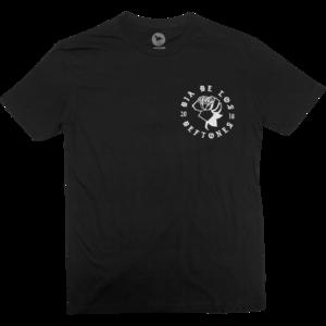 DDLD Rose on Black T-Shirt