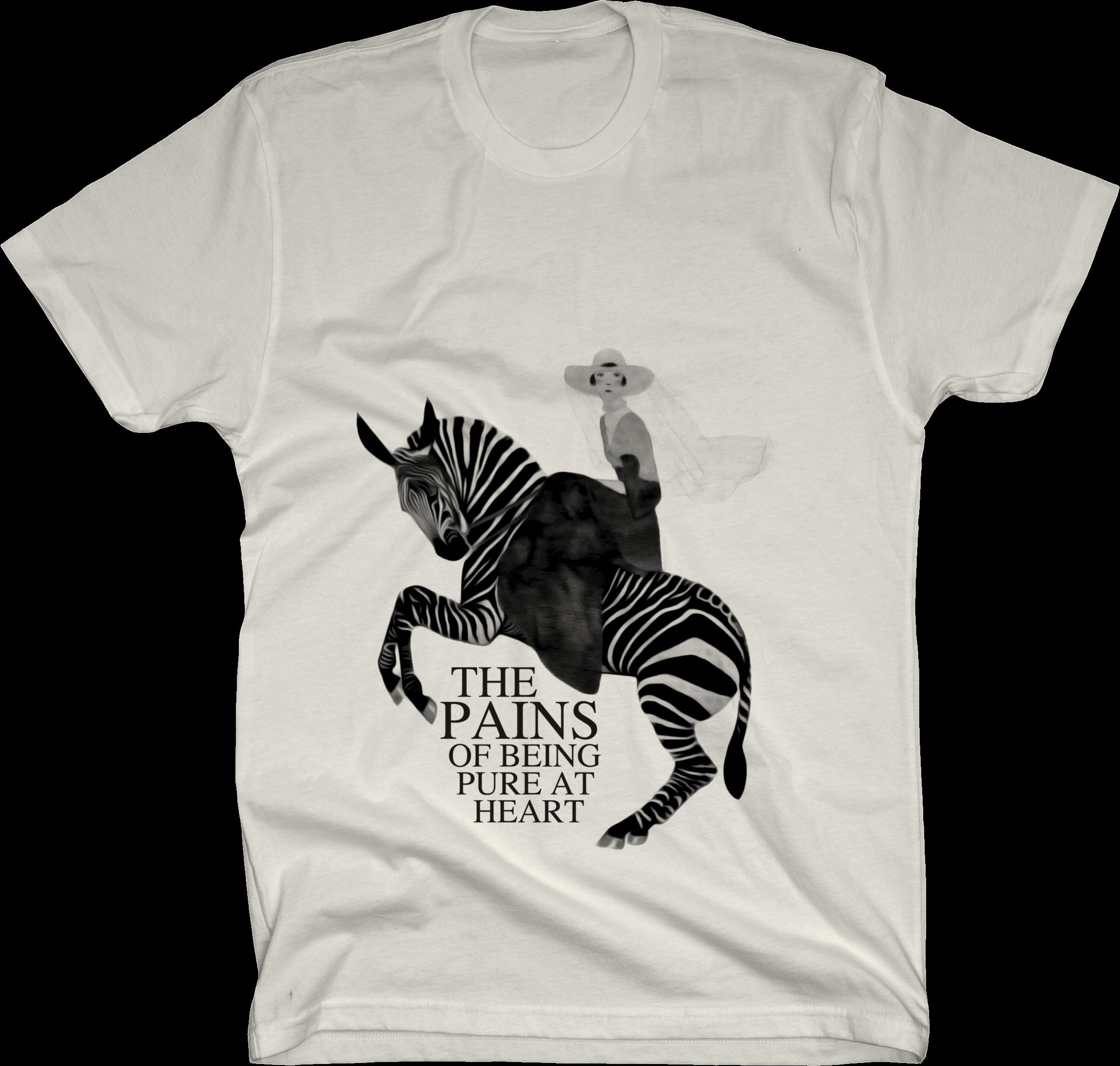 Zebra on Natural T Shirt