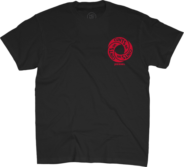 Cunt Infinity Red on Unisex Black T-Shirt
