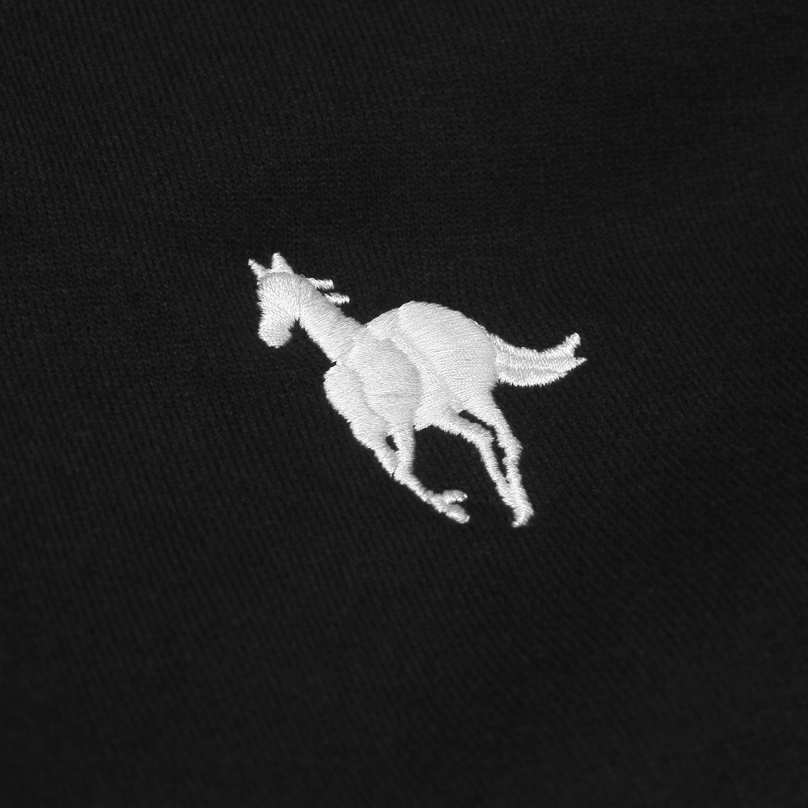White Pony Champion Black Pullover
