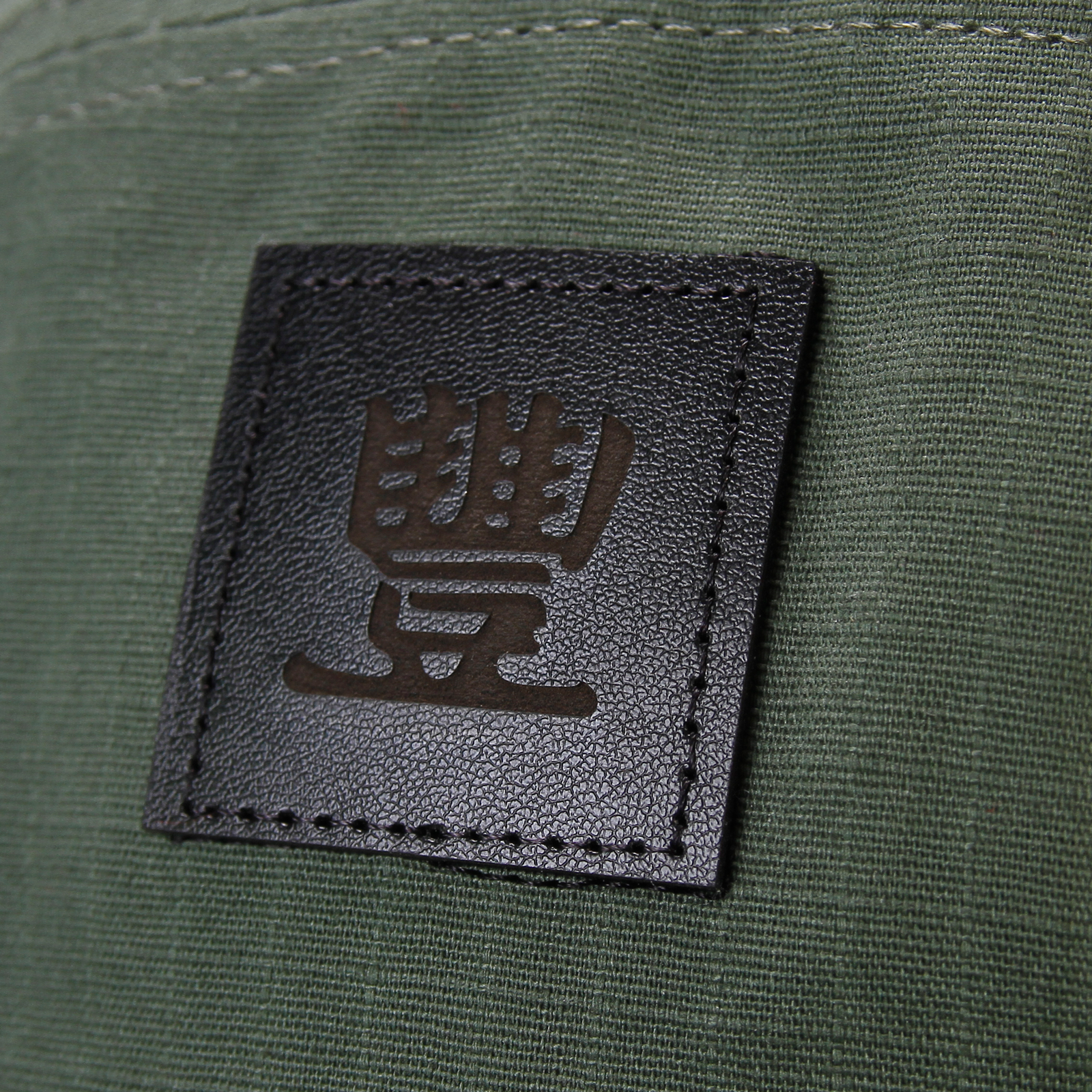 Leather Patch Olive 5 Panel