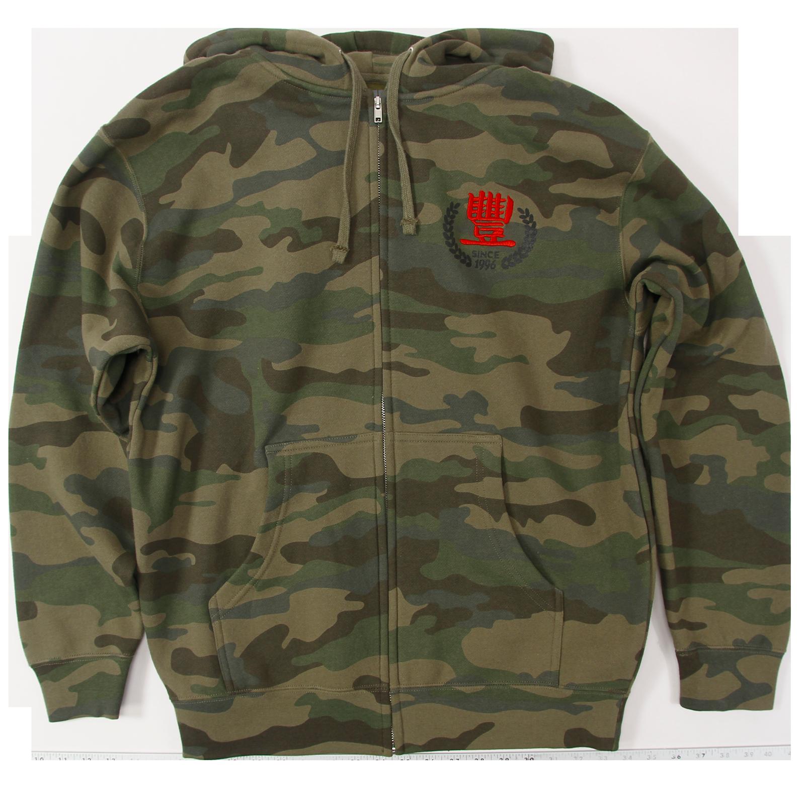 JMT Vintage 96 Camo Zip Sweatshirt
