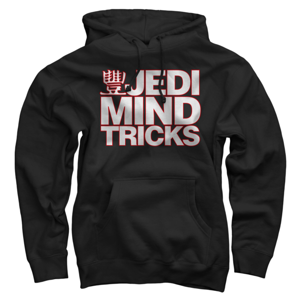JMT Stacked Logo White/Red on Black Pullover