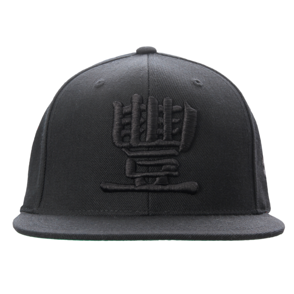 Collegiate Black on Black Snapback