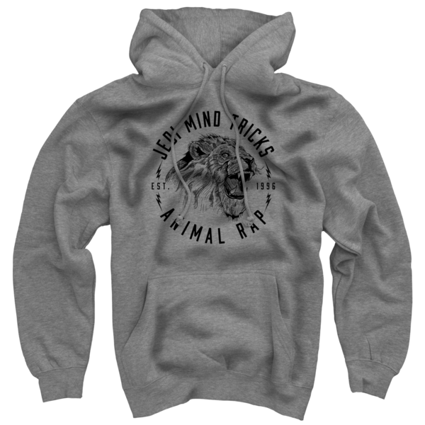 Animal Rap on Heather Grey Hoodie