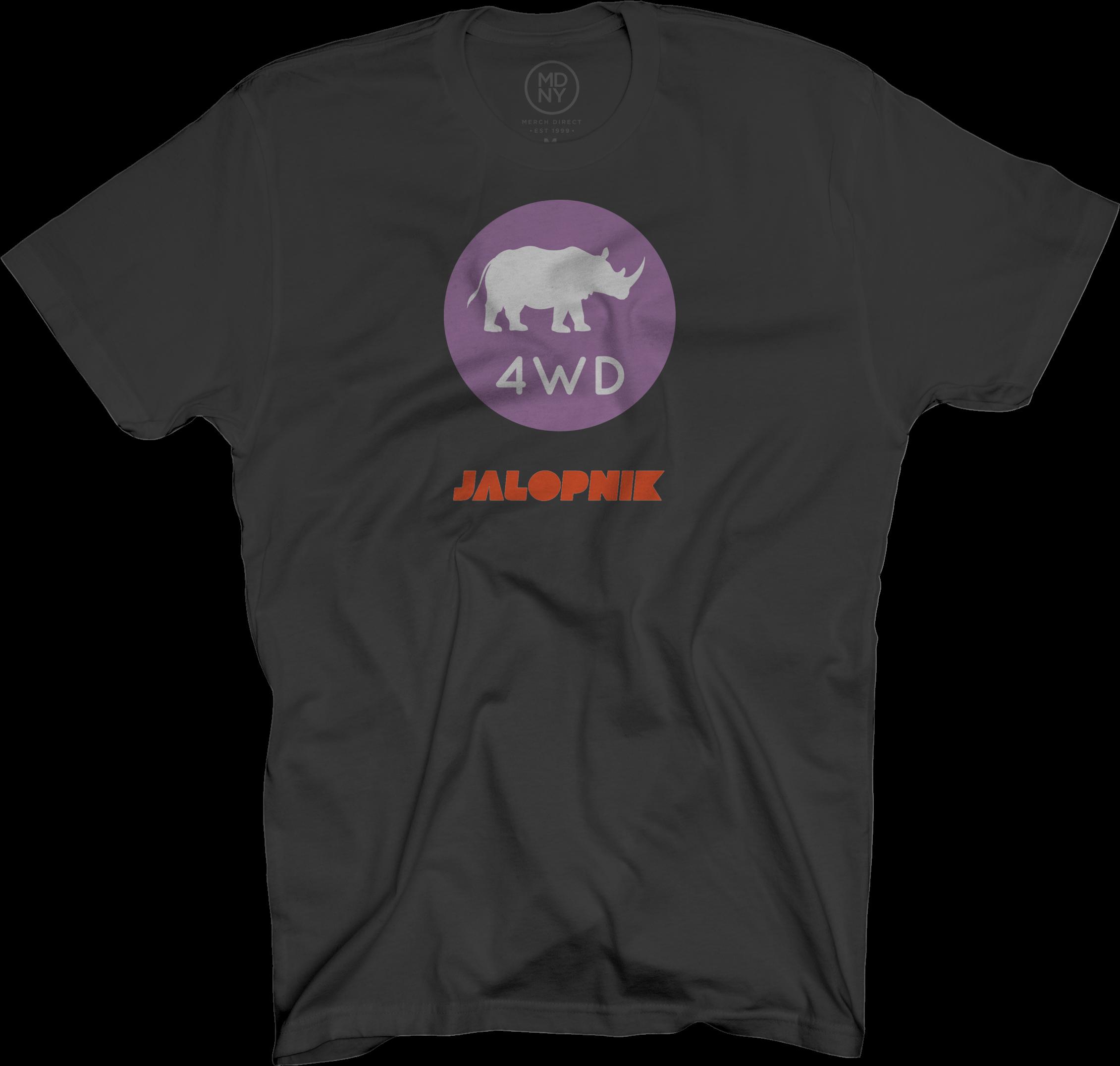4WD Black T-Shirt