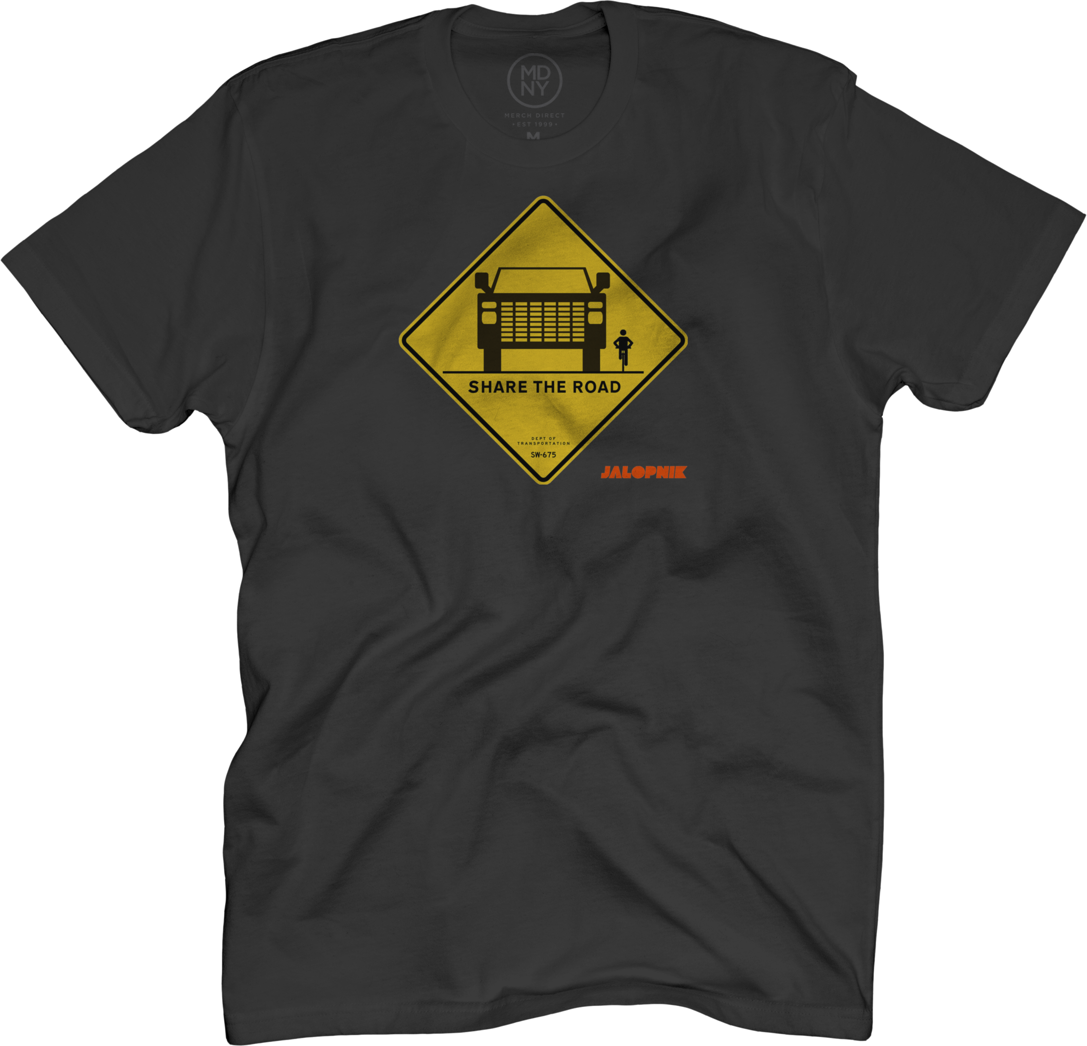Share The Road Black T-Shirt