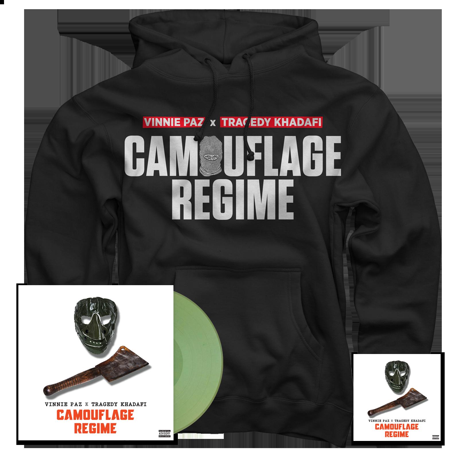 Camouflage Regime Hoodie + Vinyl + CD Bundle