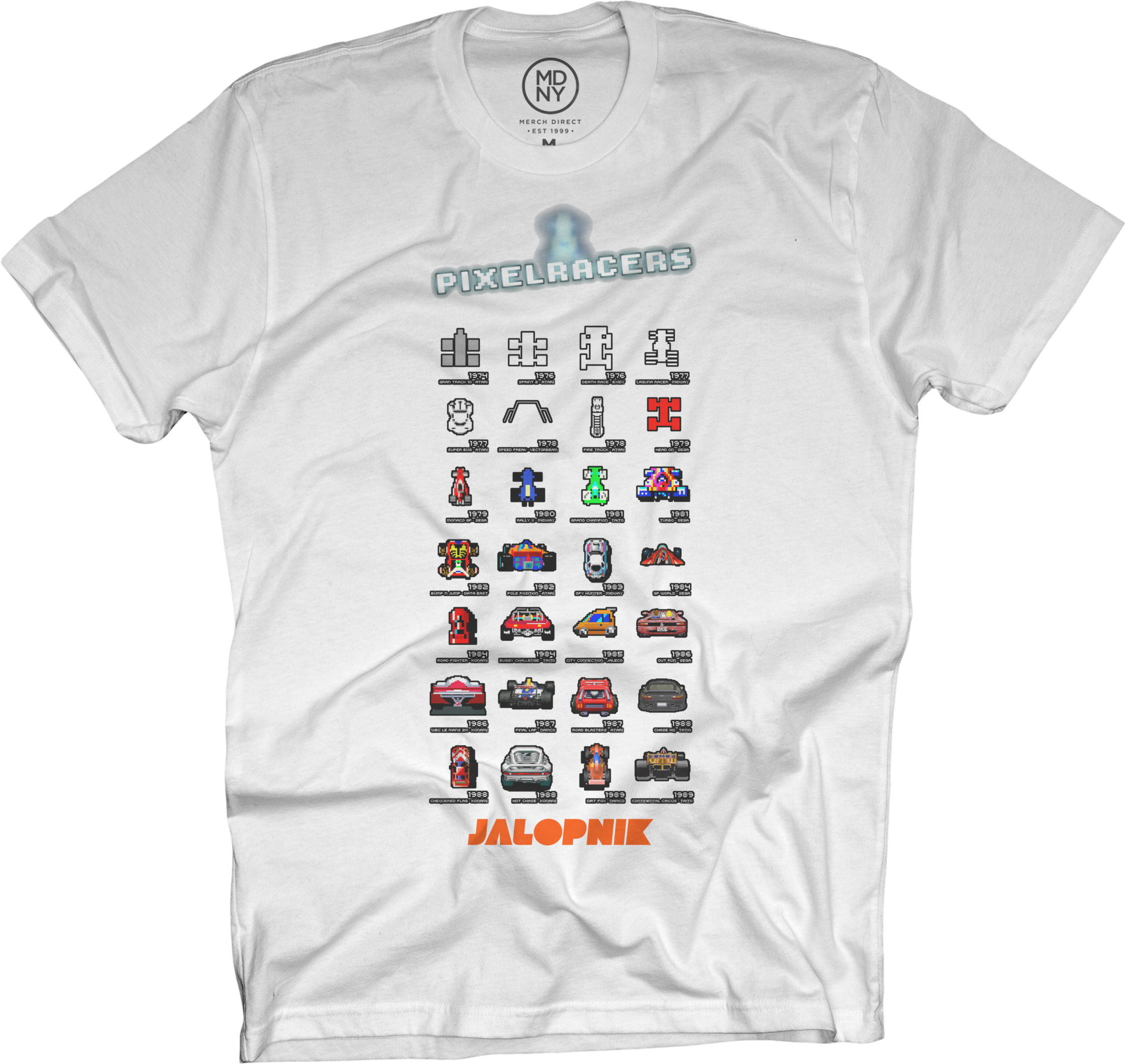 8-Bit Racers White T-Shirt