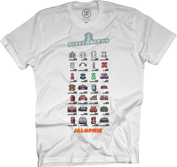 8-Bit Racers White T-Shirt