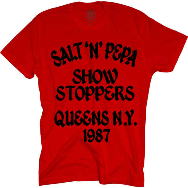 Showstoppers on Red T-Shirt