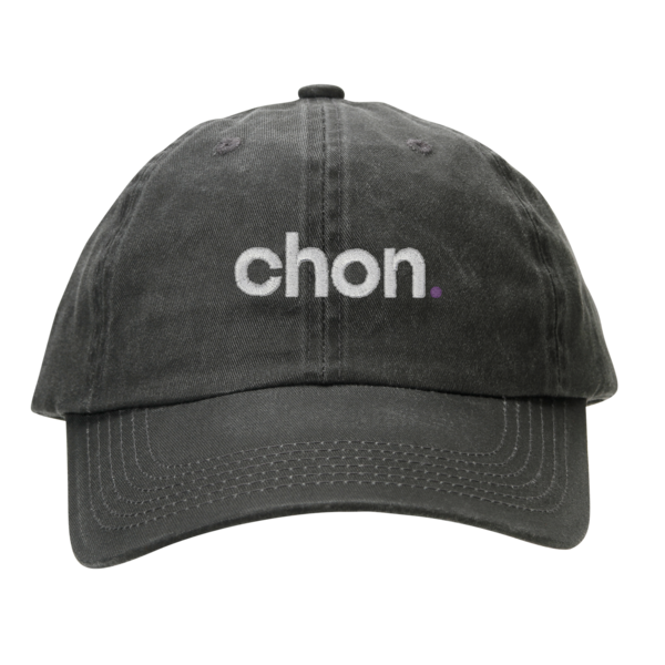 Chon Black Garment Washed Dad Cap
