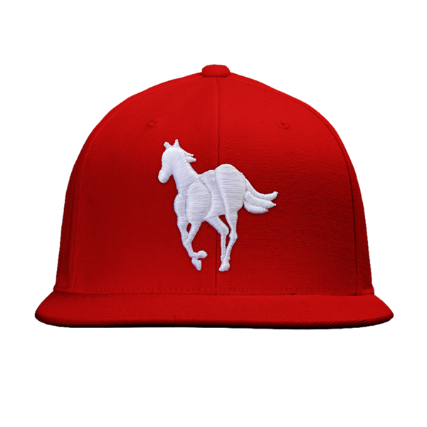 White Pony Red Snapback