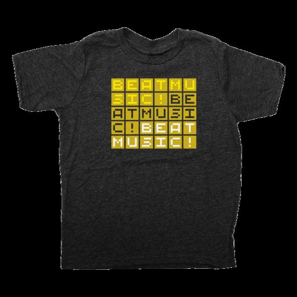 BEAT MUSIC! Tri-blend Black T-Shirt