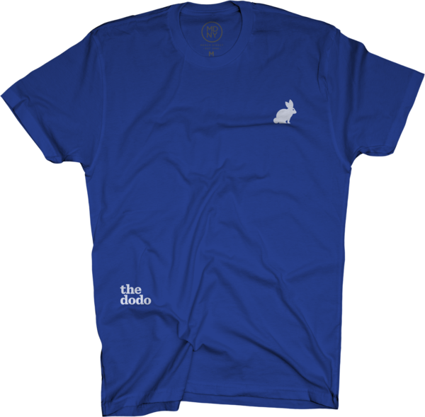 Dodo Friends Tee - Rabbit/Blue