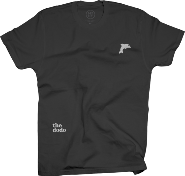 Dodo Friends Tee - Dolphin/Black