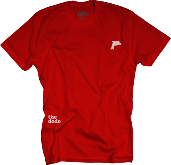 Dodo Friends Tee - Dolphin/Red