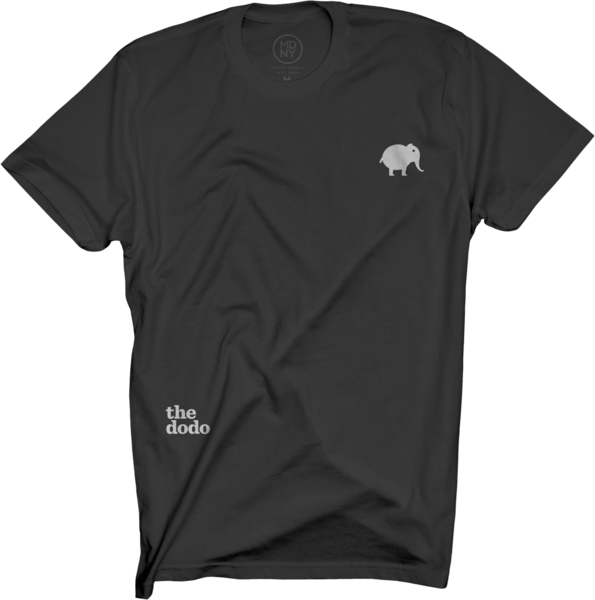 Dodo Friends Tee - Elephant/Black