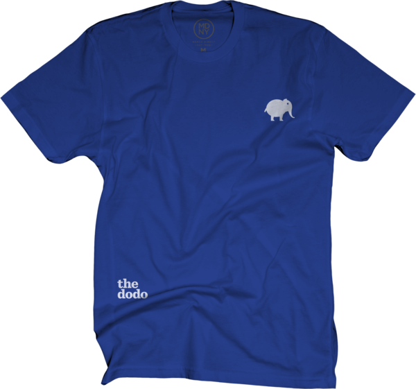 Dodo Friends Tee - Elephant/Blue