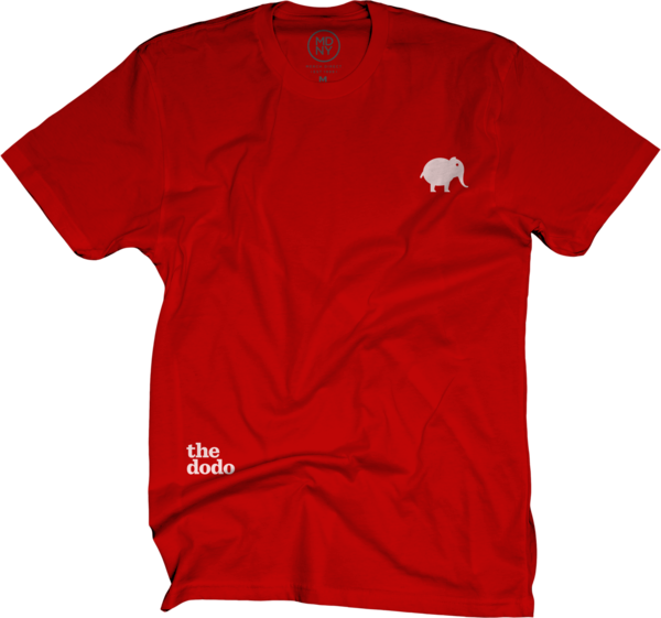 Dodo Friends Tee - Elephant/Red