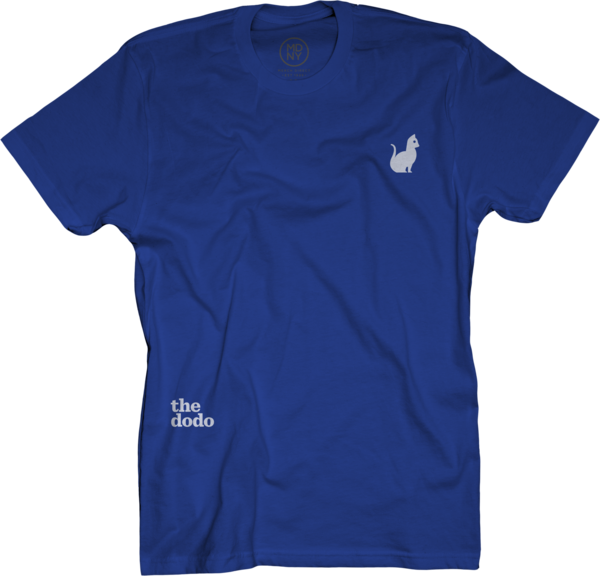 Dodo Friends Tee - Cat/Blue