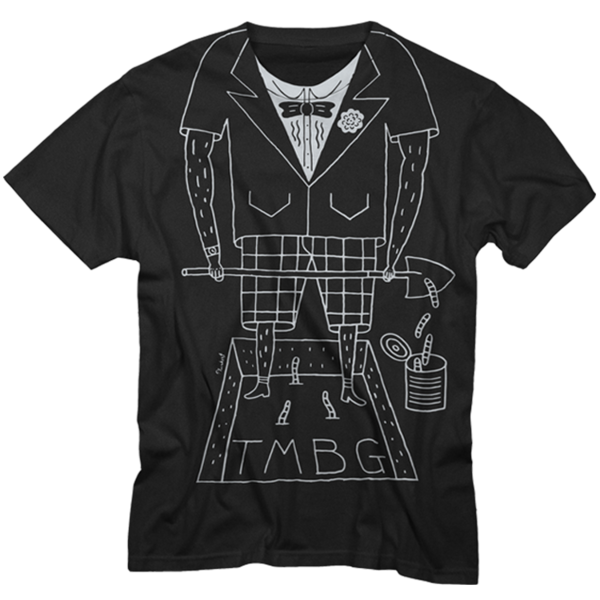 Tuxedo on Black Unisex T-Shirt