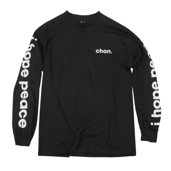 I Hope Peace Black Long Sleeve