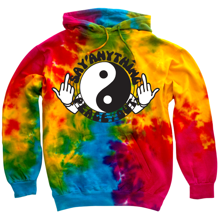 a33718587c10 Say Anything - Peace Out Tie Dye Pullover