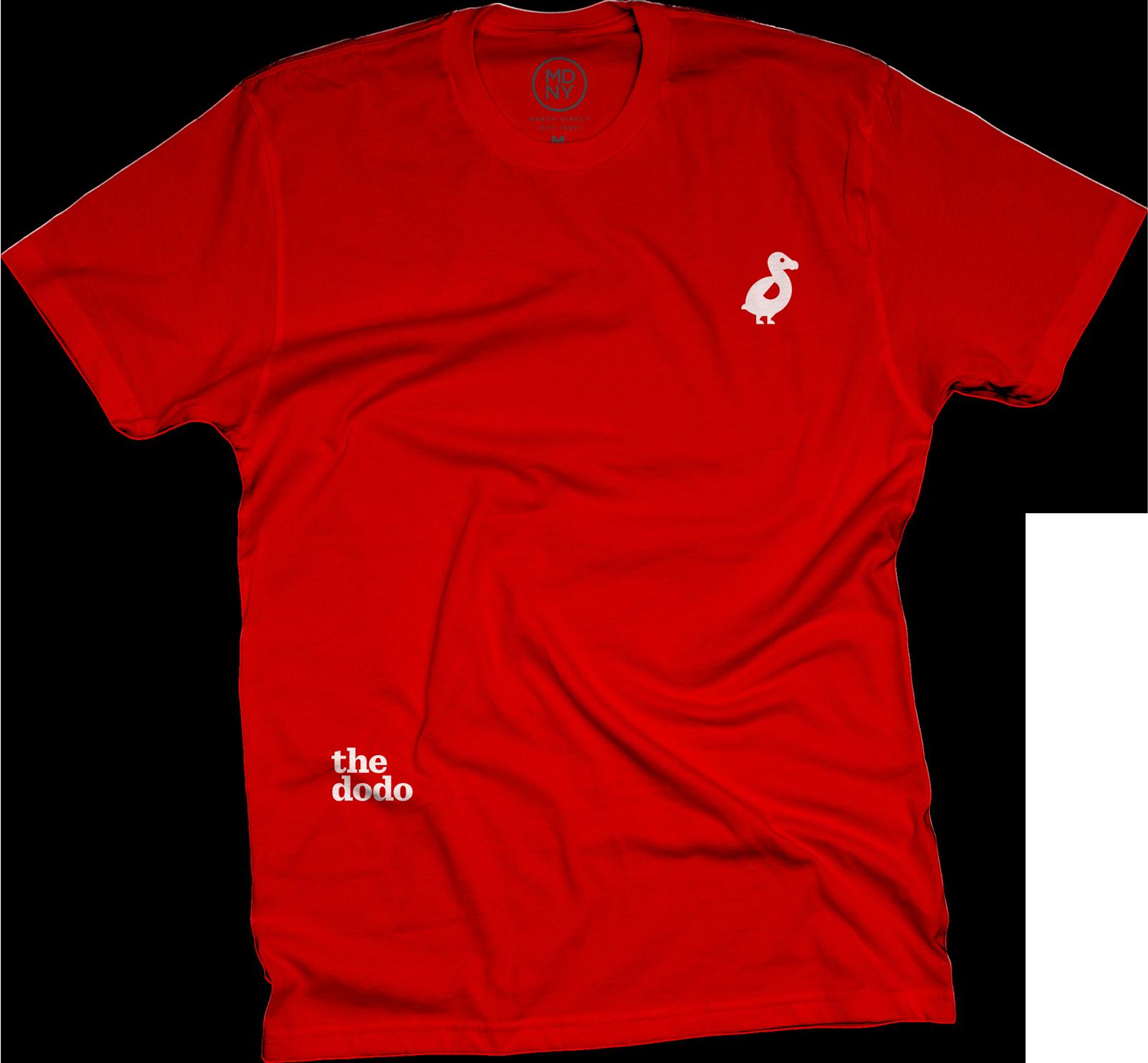 Dodo Friends Tee - Dodo/Red