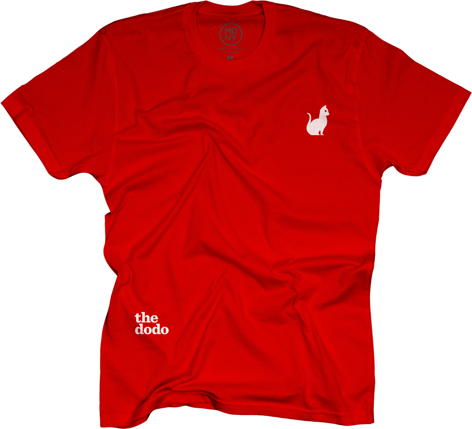 Dodo Friends Tee - Cat/Red