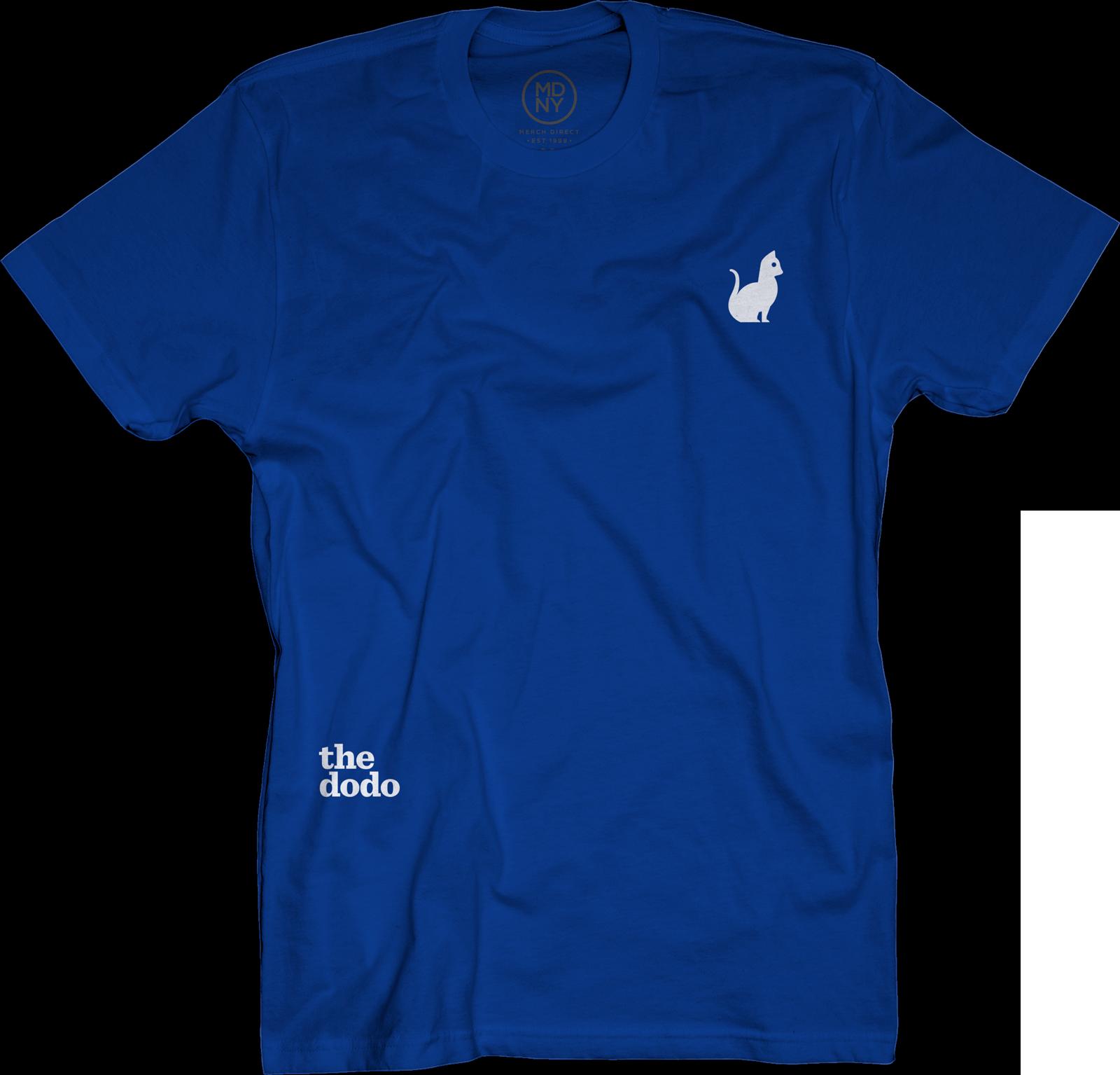 Dodo Friends Tee - Cat/Blue