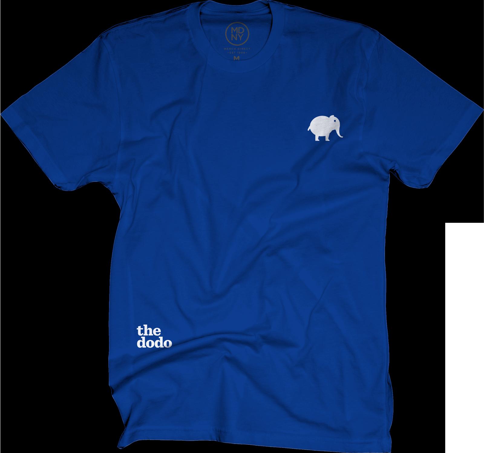 Dodo Friends Tee - Elephant/Blue
